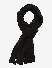 Polo Ralph Lauren - WOOL/CASHMERE-CABLE SCARF-OBS - huivit - polo black - 0