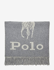 Polo Ralph Lauren - Wool-Blend Oversize Scarf - scarves - cream/fawn grey - 3