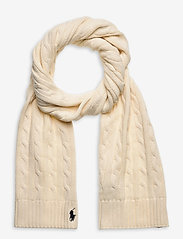 Cable-Knit Cotton Scarf - CLUBHOUSE CREAM