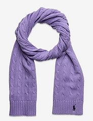 Cable-Knit Cotton Scarf - CRUISE LAVENDER