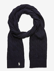 Polo Ralph Lauren - Cable-Knit Cotton Scarf - winter scarves - hunter navy - 0