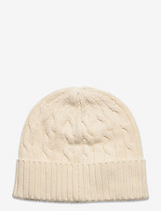 Polo Ralph Lauren - Cable-Knit Cotton Beanie - mössor - clubhouse cream - 1