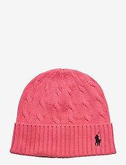 Cable-Knit Cotton Beanie - HORIZON PINK