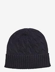 Polo Ralph Lauren - Cable-Knit Cotton Beanie - beanies - hunter navy - 1