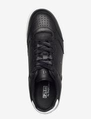 Polo Ralph Lauren - Court Leather Sneaker - low top sneakers - black - 3