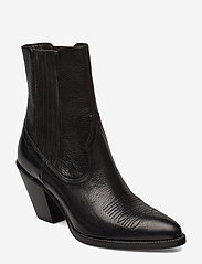 Polo Ralph Lauren - Lowrey Leather Cowboy Boot - heeled ankle boots - black - 0