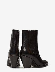 Polo Ralph Lauren - Lowrey Leather Cowboy Boot - heeled ankle boots - black - 4