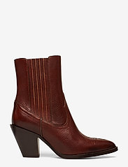 Polo Ralph Lauren - Lowrey Leather Cowboy Boot - heeled ankle boots - dark cognac - 1