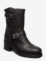 Polo Ralph Lauren - Payge Vachetta Leather Boot - heeled ankle boots - black - 0