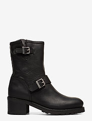 Polo Ralph Lauren - Payge Vachetta Leather Boot - heeled ankle boots - black - 1