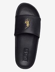 Polo Ralph Lauren - Cayson Pony Slide Sandal - pool sliders - black/gold pp - 3