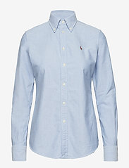 Polo Ralph Lauren - Custom Fit Cotton Oxford Shirt - langærmede skjorter - bsr blue - 0