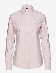 Polo Ralph Lauren - Custom Fit Cotton Oxford Shirt - long-sleeved shirts - bsr pink/white - 0