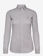 Knit Cotton Oxford Shirt - BOULDER GREY HEAT