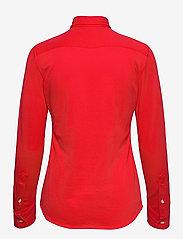 Polo Ralph Lauren - Knit Cotton Oxford Shirt - langærmede skjorter - bright hibiscus - 2
