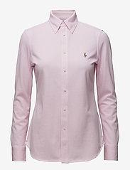 Polo Ralph Lauren - Knit Cotton Oxford Shirt - long-sleeved shirts - carmel pink - 0