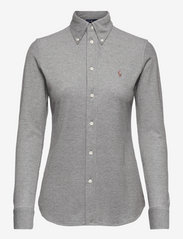 Knit Cotton Oxford Shirt - DARK CHARCOAL HEA