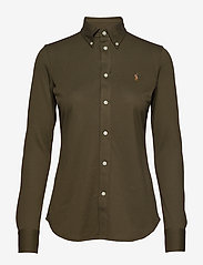Knit Cotton Oxford Shirt - DEFENDER GREEN