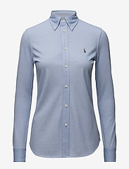Polo Ralph Lauren - Knit Cotton Oxford Shirt - langærmede skjorter - harbor island blue - 1