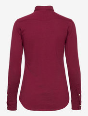 Polo Ralph Lauren - Knit Cotton Oxford Shirt - long-sleeved shirts - monarch red - 1