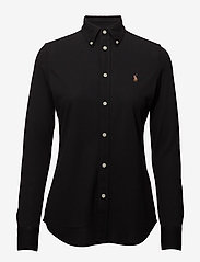 Polo Ralph Lauren - Knit Cotton Oxford Shirt - langærmede skjorter - polo black - 1