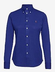 Polo Ralph Lauren - Knit Cotton Oxford Shirt - langærmede skjorter - sporting royal - 1