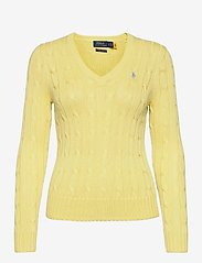Cable-Knit V-Neck Sweater - BRISTOL YELLOW