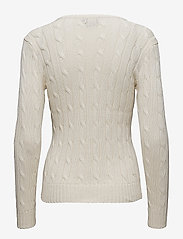 Polo Ralph Lauren - Cable-Knit V-Neck Sweater - trøjer - cream - 2