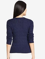 Polo Ralph Lauren - Cable-Knit V-Neck Sweater - trøjer - hunter navy - 4