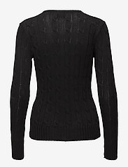 Polo Ralph Lauren - Cable-Knit V-Neck Sweater - trøjer - polo black/white - 2