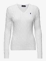 Polo Ralph Lauren - Cable-Knit V-Neck Sweater - jumpers - white - 0