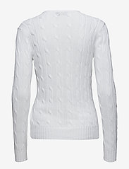 Polo Ralph Lauren - Cable-Knit V-Neck Sweater - jumpers - white - 1