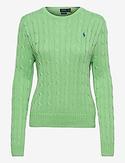 Polo Ralph Lauren - Cable-Knit Cotton Sweater - trøjer - bud green - 0