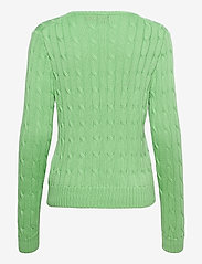 Polo Ralph Lauren - Cable-Knit Cotton Sweater - trøjer - bud green - 1