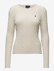 Polo Ralph Lauren - Cable-Knit Cotton Sweater - trøjer - cream - 1