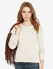 Polo Ralph Lauren - Cable-Knit Cotton Sweater - trøjer - cream - 4