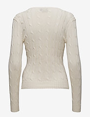Polo Ralph Lauren - Cable-Knit Cotton Sweater - trøjer - cream - 5
