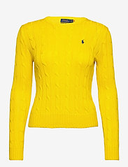 Polo Ralph Lauren - Cable-Knit Cotton Sweater - trøjer - elite yellow - 1