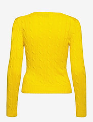 Polo Ralph Lauren - Cable-Knit Cotton Sweater - trøjer - elite yellow - 2