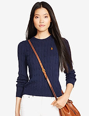 Polo Ralph Lauren - Cable-Knit Cotton Sweater - trøjer - hunter navy - 7