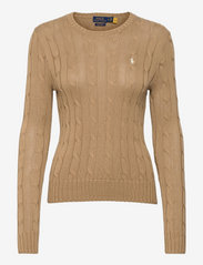 Cable-Knit Cotton Sweater - LUXURY TAN