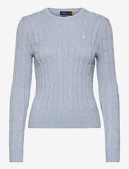 Polo Ralph Lauren - Cable-Knit Cotton Sweater - trøjer - pale blue - 0