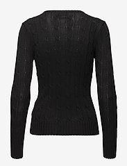 Polo Ralph Lauren - Cable-Knit Cotton Sweater - trøjer - polo black/white - 2