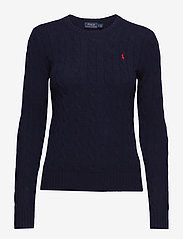 Cable Wool-Blend Sweater - HUNTER NAVY