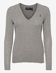 Polo Ralph Lauren - Cable Wool-Cashmere Sweater - swetry - fawn grey heath - 0