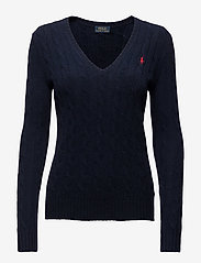 Cable Wool-Cashmere Sweater - HUNTER NAVY