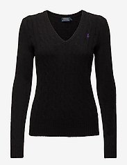 Polo Ralph Lauren - Cable Wool-Cashmere Sweater - swetry - polo black - 0
