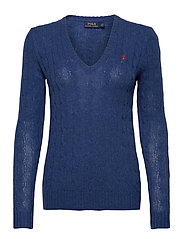 Cable Wool-Cashmere Sweater - AGED ROYAL HTHR