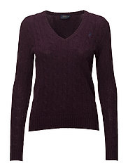 Cable Wool-Cashmere Sweater - ELDERBERRY HEATHE