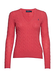 Cable Wool-Cashmere Sweater - GERANIUM HEATHER